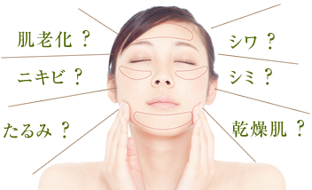 あなたの肌のお悩みは何ですか?